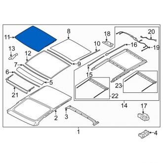 شیشه سانروف هیوندای توسان 2010 تا 2015 جنیون 816112s000