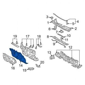 عایق پشت داشبورد تویوتا ماتریکس 2009 تا 2013 جنیون 5510102880