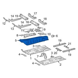 سینی کف اتاق وسطی تویوتا کمری 2018 تا 2020 جنیون 5811306010