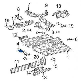 تقویتی سینی کف صندوق عقب تویوتا رافور 2005 جنیون 5833642020