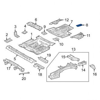 تقویتی سینی کف صندوق عقب لکسوس RX 2018 تا 2020 جنیون 5833648050
