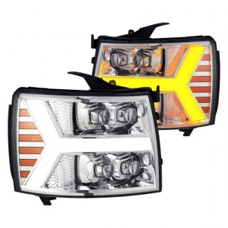 چراغ جلو اسپرتی تو سفید چوی سیلورادو3500 و 2007 تا 2014 جنیون 81001561565