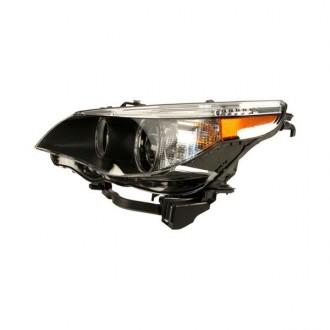 چراغ جلو LED تو مشکی سمت راننده بی ام دبلیو 530iو 2005 جنیون 63127166119